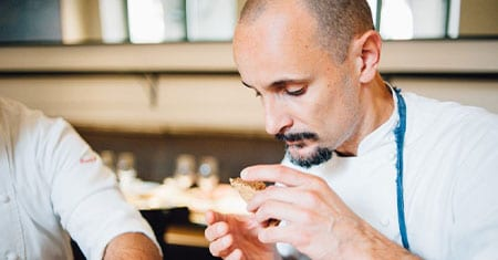 Enrico Crippa and his Italian Cuisine both light and beautiful to the eye.