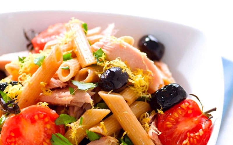 Pasta Salad with Tuna and Olives