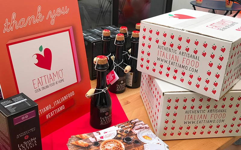 EatTiamo stand at BlogHer 2019