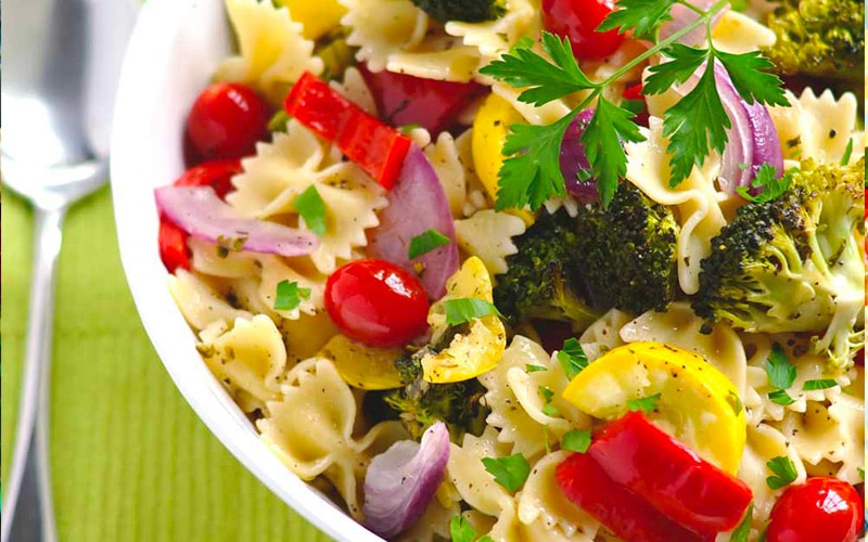 Vegetarian Pasta Salad made with Italian Recipe