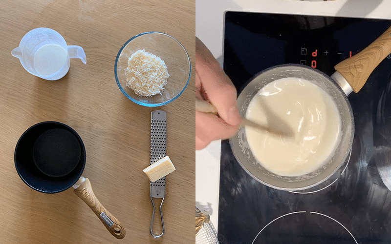 Parmesan fondue ingredients and process