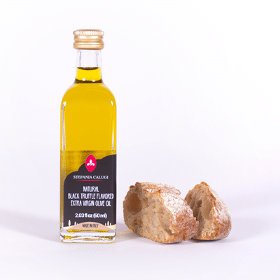 Truffle flavored extra virgin olive oil
