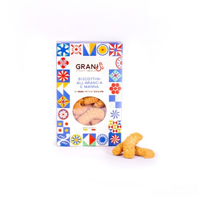 Orange and manna flavored cookies
